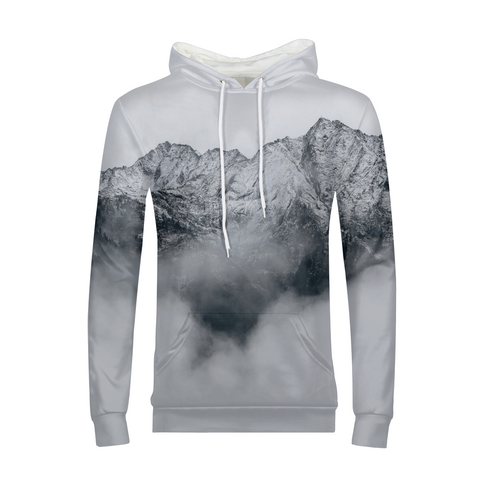 Gray Mountains Mens Hoodie