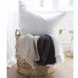 Pom Pom at Home Carmel Oversized Throw, Midnight