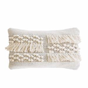Zahra Pillow w/ Insert, Ivory/Grey