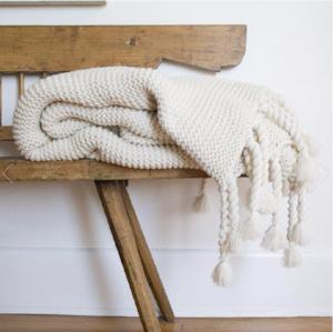 Pom Pom at Home Trestles Oversized Throw, Antique White
