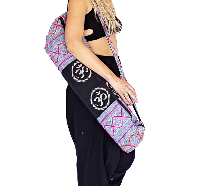 Om Design Yoga Mat Bag in Tribal White-The High Thai-The High Thai-Yoga Pants-Harem Pants-Hippie Clothing-San Diego