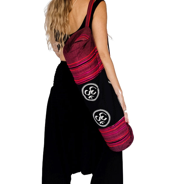 Om Design Yoga Mat Bag in Tribal Rustic Red-The High Thai-The High Thai-Yoga Pants-Harem Pants-Hippie Clothing-San Diego