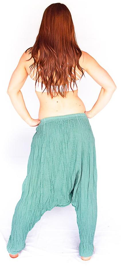Mid Cut Harem Pants in Baby Blue-The High Thai-The High Thai-Yoga Pants-Harem Pants-Hippie Clothing-San Diego