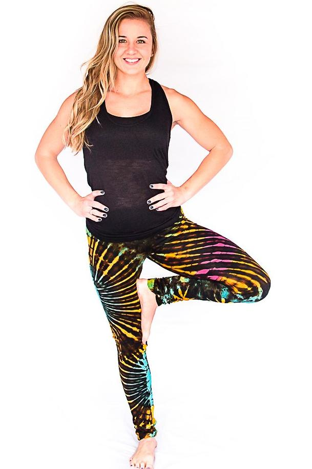 Tie Dye Leggings in Black-The High Thai-The High Thai-Yoga Pants-Harem Pants-Hippie Clothing-San Diego