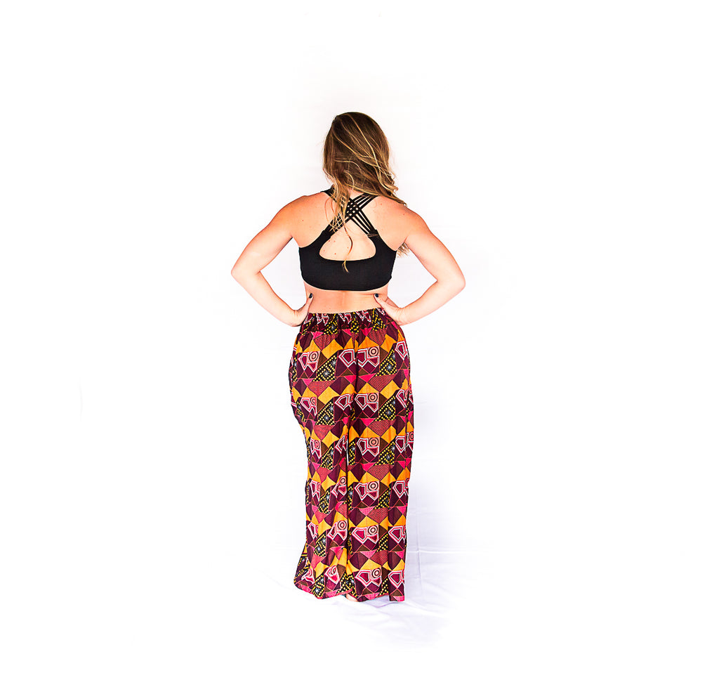 Palazzo Pants in Retro Red-The High Thai-The High Thai-Yoga Pants-Harem Pants-Hippie Clothing-San Diego