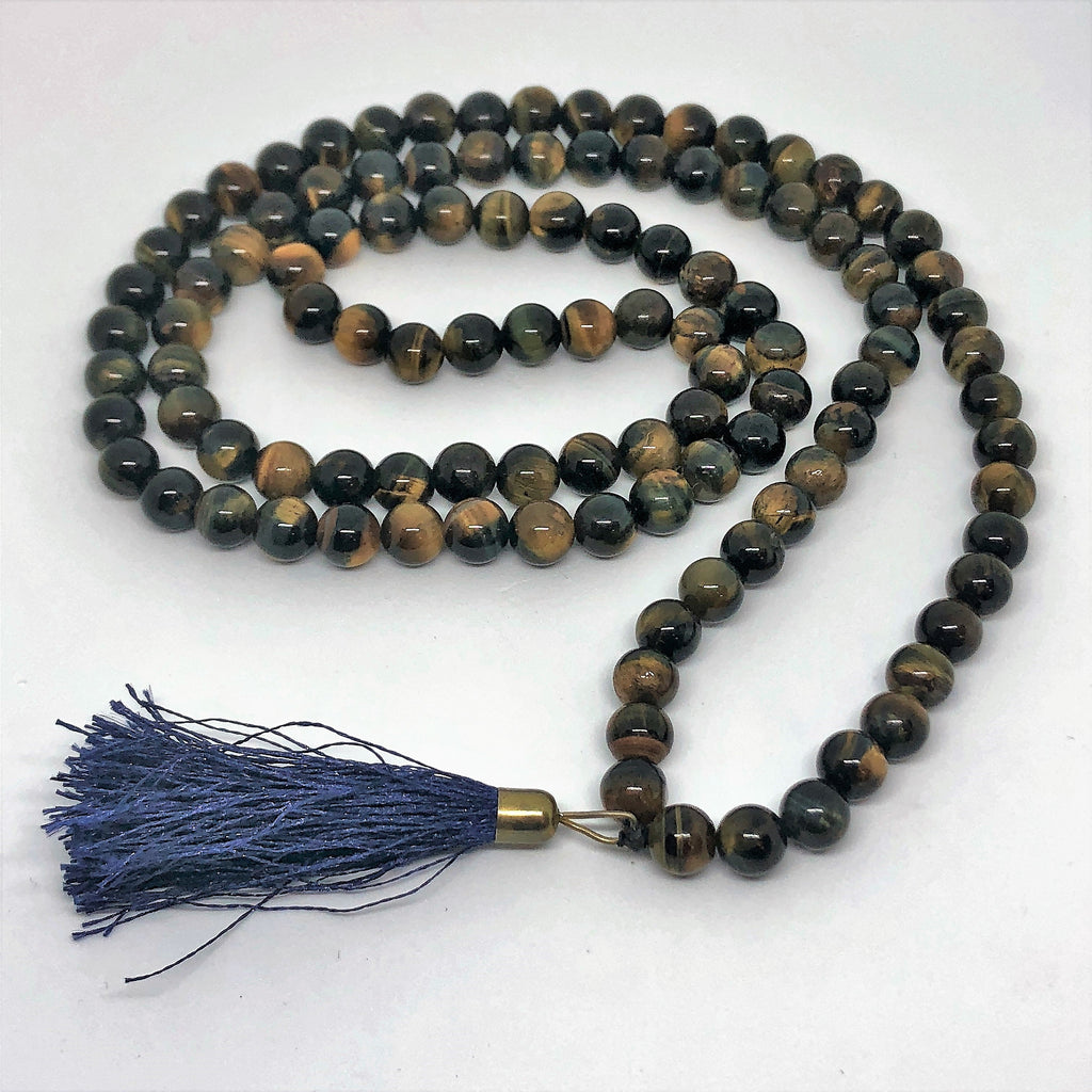 Mala Beads in Tigereye-The High Thai-The High Thai-Yoga Pants-Harem Pants-Hippie Clothing-San Diego