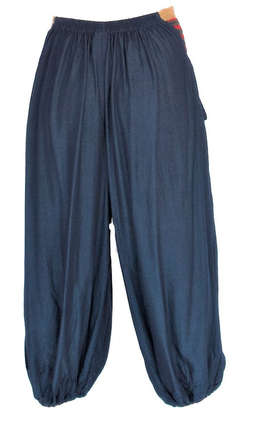 Men's Aladdin Pants in Navy Blue-The High Thai-The High Thai-Yoga Pants-Harem Pants-Hippie Clothing-San Diego