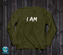 I Am, Made To Excel. Long Sleeve (Military Green) - Made To Excel Fitness