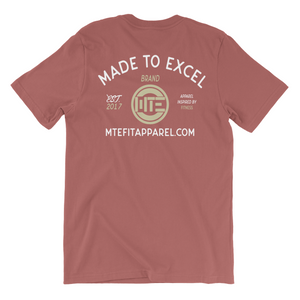 Vintage MTE Tee (Mauve) - Made To Excel Fitness
