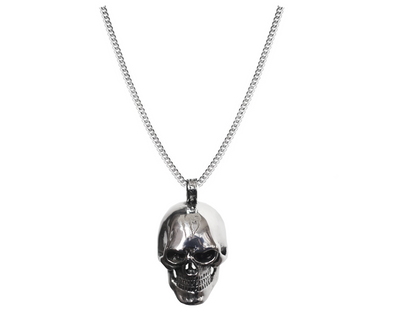 115 SKULL SILVER PENDANT NECKLACE