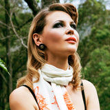 Designer Silk Scarf Floral 'Lily' | DREAM4LOVE