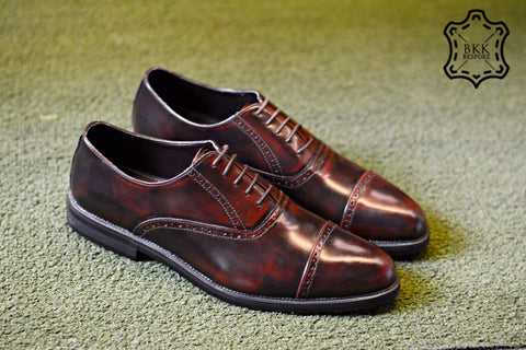 507-1 Brogue Shoe Cherry