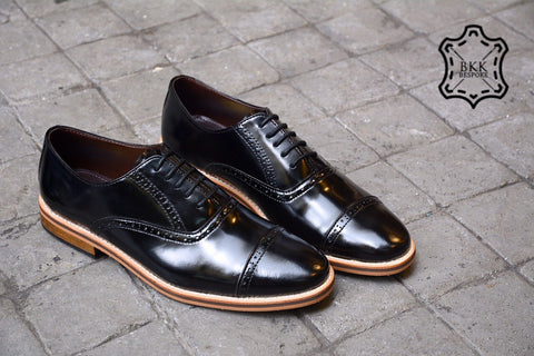 507-1 Brogue Shoe Piano Black