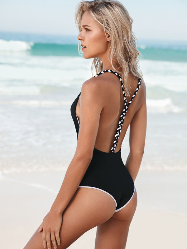 Long Island Reversible One Piece - Black and White