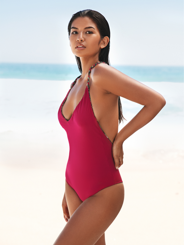 Long Island Reversible One Piece - Flora and Pink