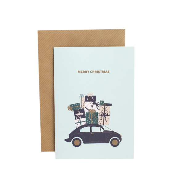 """Merry Christmas - car"" A6 kort  Grand Stories Design"