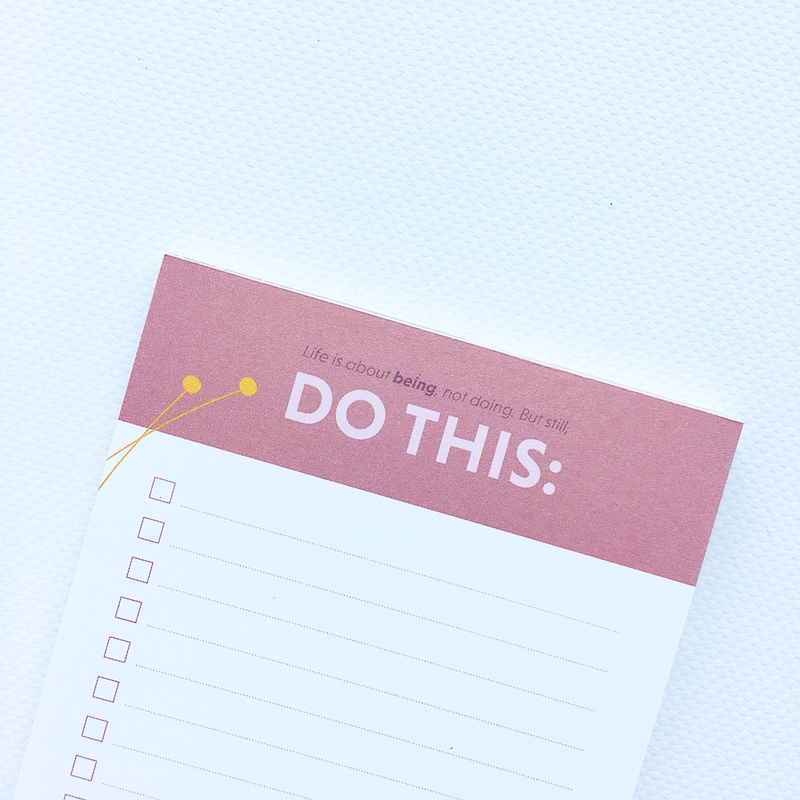 """Do This"" planlægger - notesblok  Grand Stories Design"