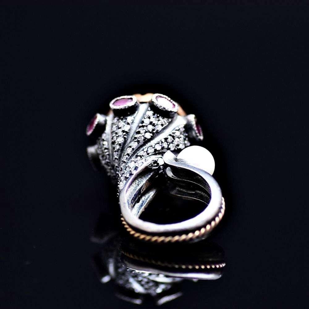 Silver Ring Adorned With Black Onyx Stone