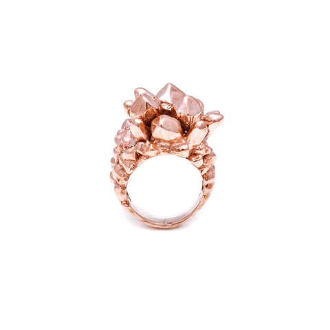 PINEAPPLE CRYSTAL RING | ROSE GOLD VERMEIL - AngelaMonacojewelry
