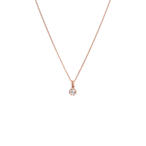 RAW CHARM NECKLACE | ROSE GOLD VERMEIL & HERKIMER - AngelaMonacojewelry