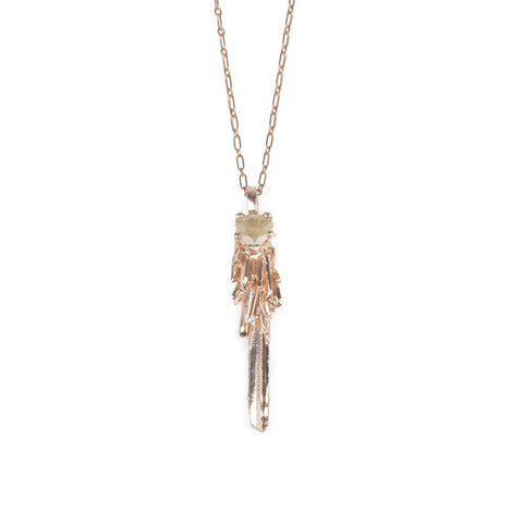 KEY TO THE UNKNOWN | ROSE GOLD VERMEIL & RUTILATED QUARTZ - AngelaMonacojewelry