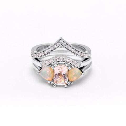 THREE STONE ENCHANTMENT UNION (No. 02) | WHITE GOLD