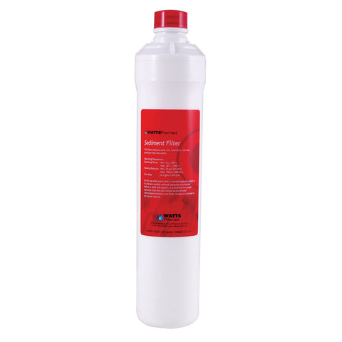 Watts Premier Water Filter | Sediment Push Button Red | F105311 | Watts Filter