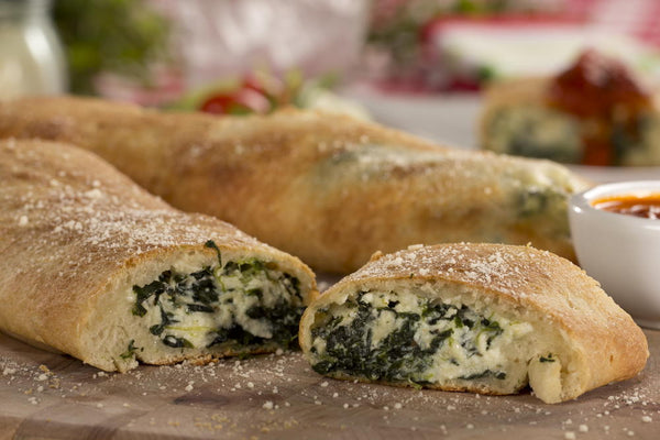 Spinach and Cheese Stromboli's