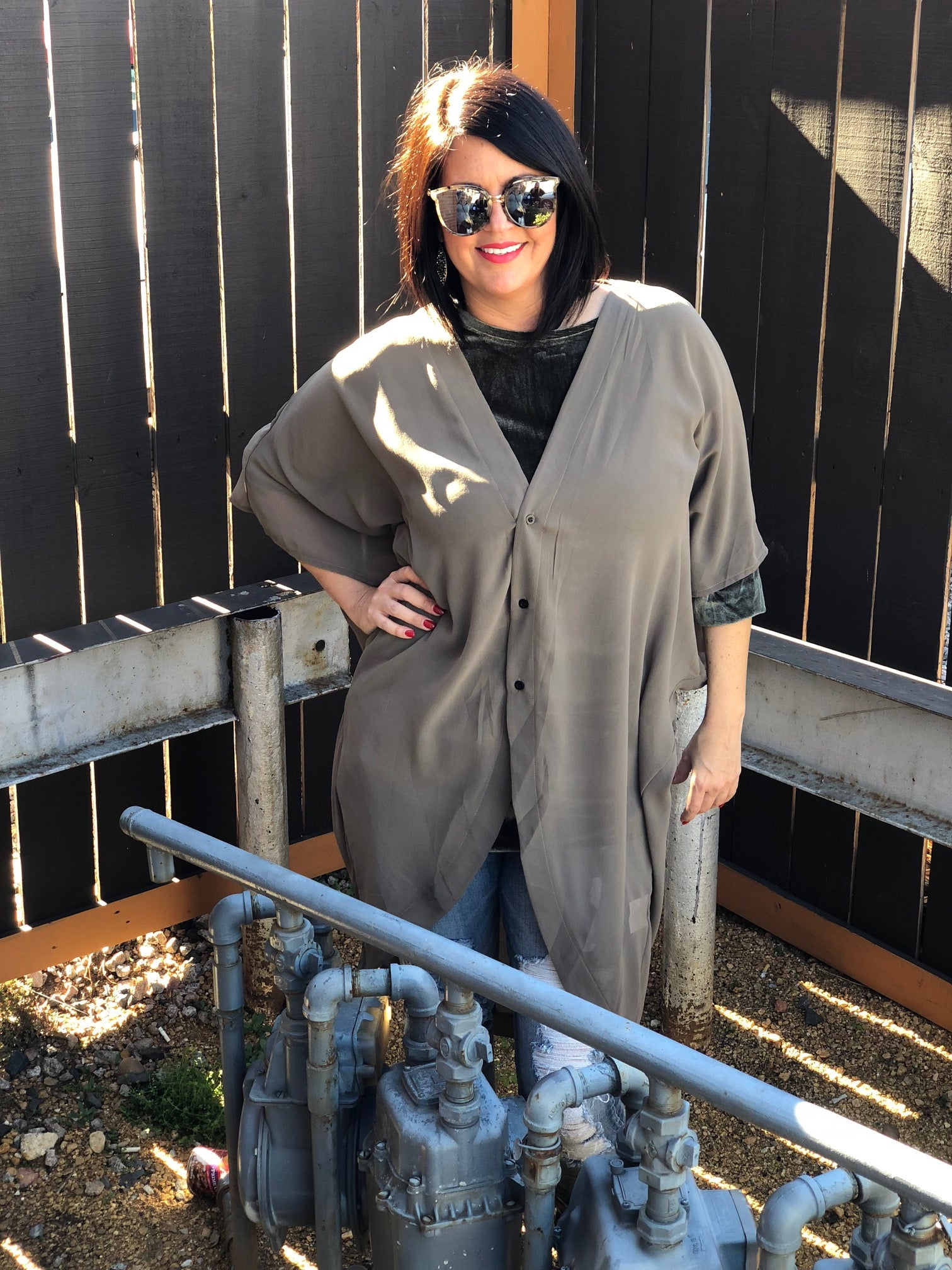 Crazy Little Thing Called Love Oversize Chiffon Shirt