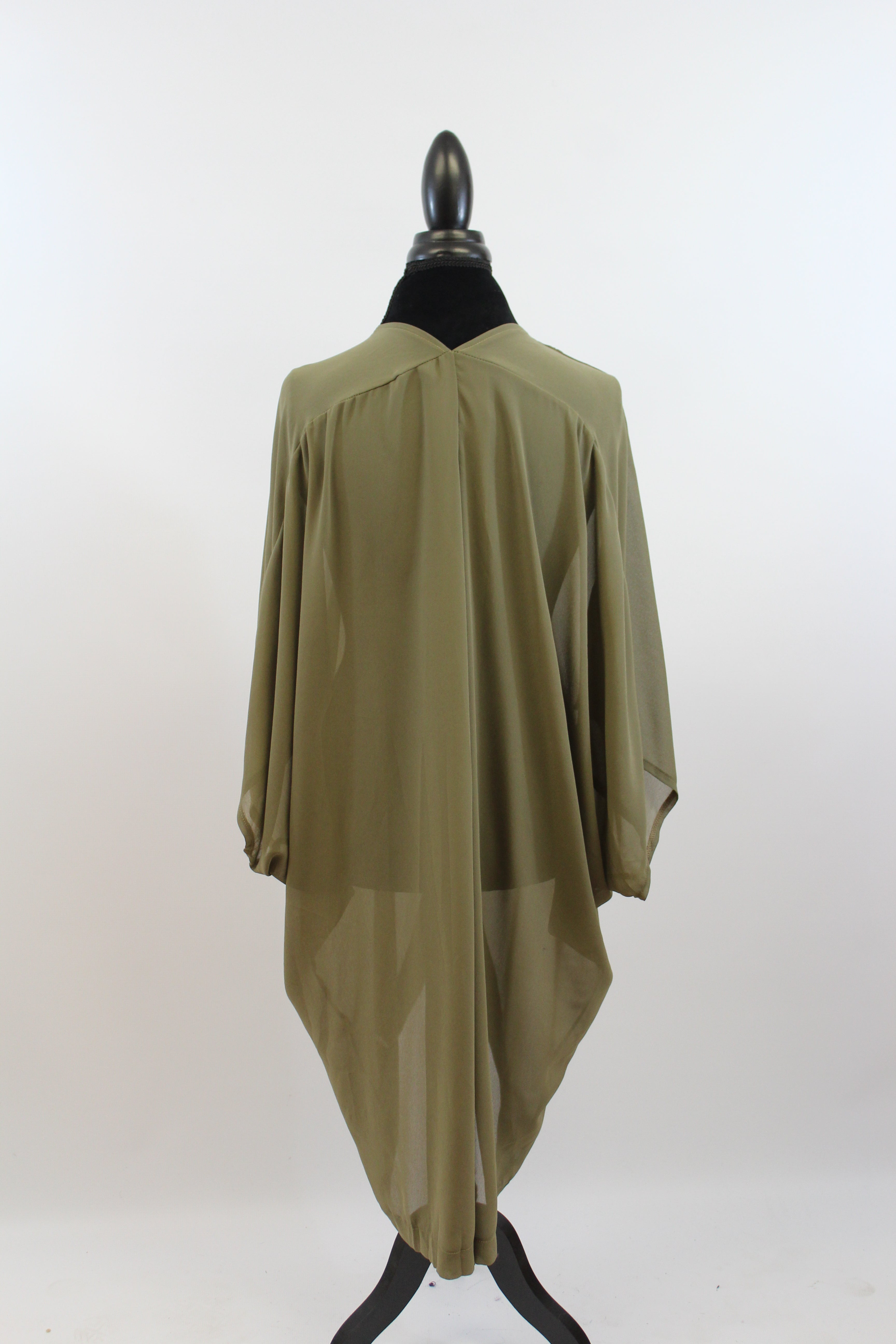 womens oversize chiffon flowy long dolman sleeve button layering piece plus size black army green taupe nordstrom lane bryant target amazon