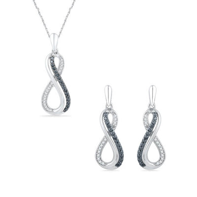 Matching Necklace and Earrings With Diamonds