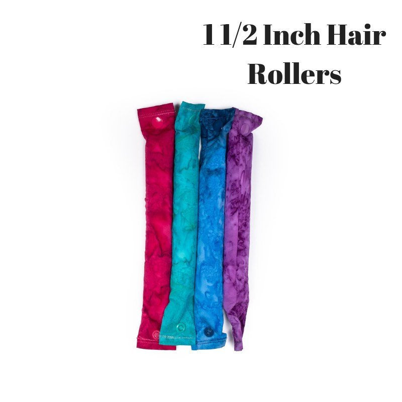 Jewel Tones 4- piece set Fabric Hair - Bun Maker Fabric Hair Accessory - Fabric Hair Curler - Fabric Hair Roller - My Easy Curls