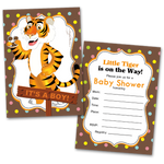 20 Baby Shower Cards and 20 Envelopes 'It's a Boy' Tiger
