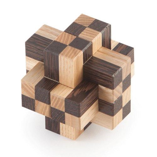 Assembly Puzzle, Interlocking Puzzle, IPP, Burr Puzzle, Cubic Dissection, Signature Puzzle, Eric Fuller Puzzle, Noah Prettyman, Ash, Wenge, Spalted Tamerand