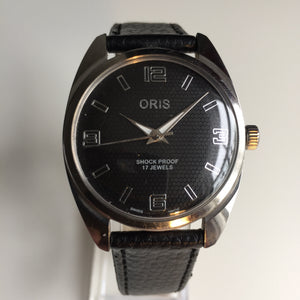 Vintage Oris watch honeycomb dial
