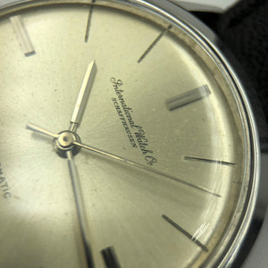 Close-up of vintage IWC watch dial