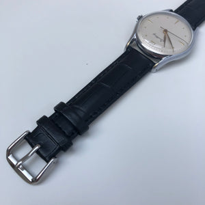 leather watch strap with buckle