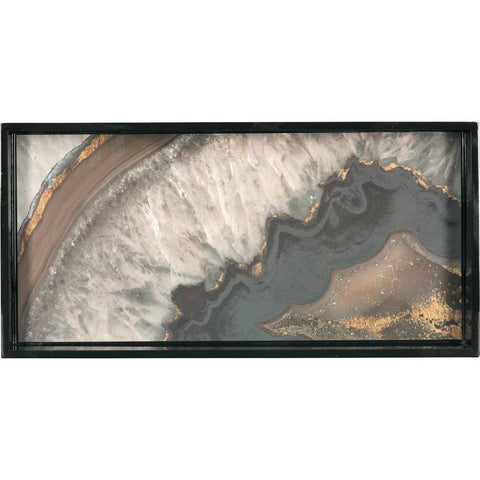 Agate Neutral 10 X 20 Inch Rectangular Lacquer Art Serving Tray