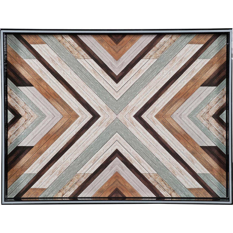 Reclaimed Wood 15 x 20 inch Rectangular Lacquer Art Serving Tray