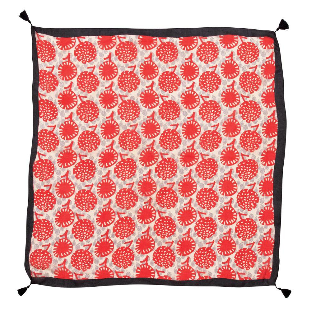 Gianna Red Square Silk Scarf