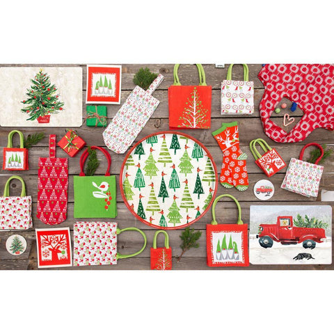 Red Truck Red Art Placemats - Set Of Four - 8/25