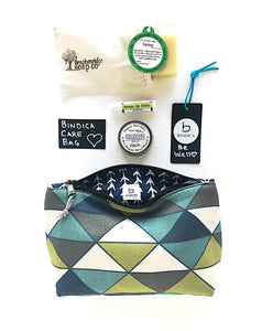Cannabis Gift Basket  |   Bindica Geo Care Bag