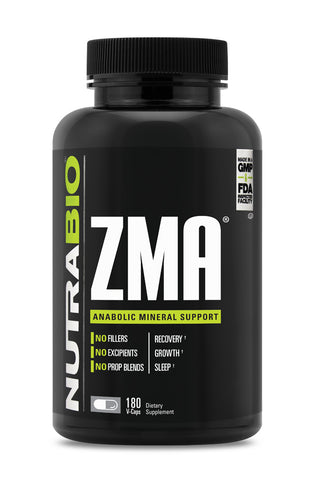 NutraBio Labs ZMA Vegetable Capsules