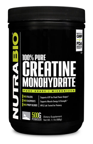 NutraBio Creatine Monohydrate Powder