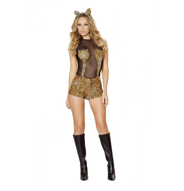 4512 2pc Seductive Jungle Cat Costume - Roma Costume Costumes,New Products,2014 Costumes - 1