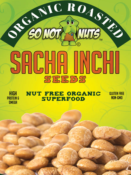 Organic Roasted Sacha Inchi Seeds 18oz - With added Sea Salt
