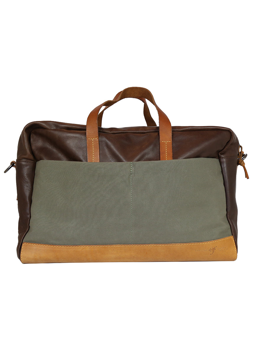 OF Weekend Bag Leather/Canvas - Brown