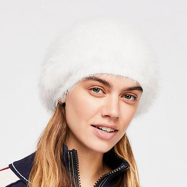 Free People - Big Sky Sloughy Beanie, White