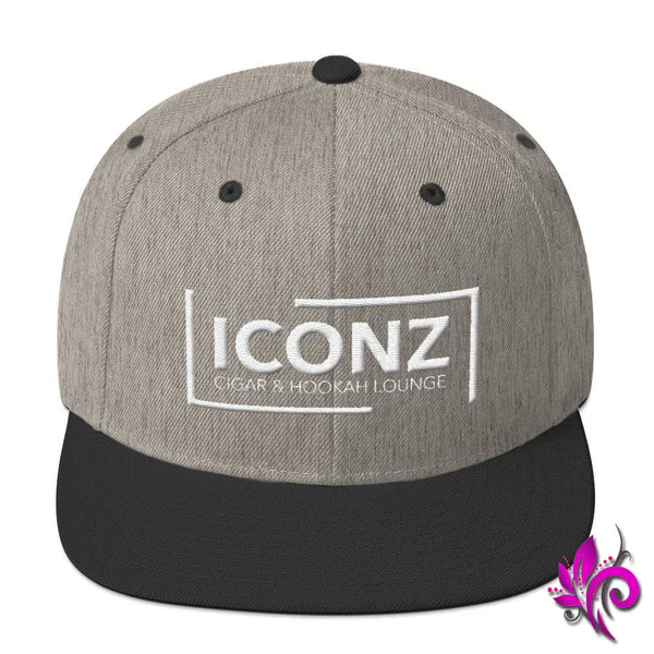 ICONZ Snapback Hat Heather/Black ICONZ
