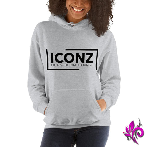 ICONZ Women's Sport Grey Hoodie - pure-bliss-clothing